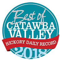 voted best in Catawba County by the Readers of Hickory Daily Record